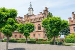 Chernivtsi Nationale Universiteit, Woonplaats van Bukovinian en Dalmatische Metropolitans royalty-vrije stock afbeelding