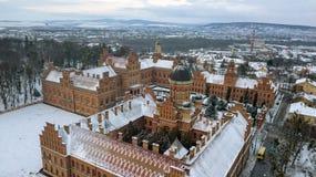 CHERNIVTSI, UCRÂNIA - residência de Bukovinian e metropolitas Dalmatian foto de stock royalty free