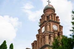 CHERNIVTSI, UCRANIA - 25 de mayo de 2018: Residencia de Bukovinian y metropolitanos dálmatas, ahora parte de la universidad de Ch fotos de archivo