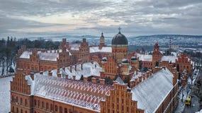 CHERNIVTSI, UKRAINA i Dalmatyńscy metropolita, - siedziba Bukovinian Fotografia Royalty Free