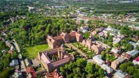 CHERNIVTSI, UKRAINE - April, 2017: Residence of Bukovinian and Dalmatian Metropolitans. Chernivtsi National University from above. CHERNIVTSI, UKRAINE - April stock image
