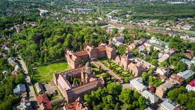 CHERNIVTSI, UKRAINE - avril 2017 : Résidence de Bukovinian et de métropolitaine dalmatienne Université nationale de Chernivtsi d' image stock