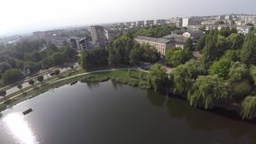CHERNIVTSI, UKRAINE Park October in Chernivtsi. Lake in the park. Stock Photography
