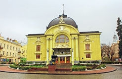 Chernivtsi Ukrainian Music and Drama theater Stock Images