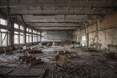 Chernobyl - Abandoned classroom in Pripyat royalty free stock images