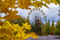 Chernobyl. This is amusement park in Chernobyl, a town in Ukraine where happened big nuclear disaster in 1986 Royalty Free Stock Photo