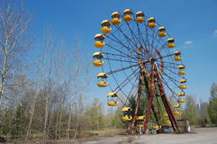 Chernobyl area. Lost city Pripyat. Stock Photos