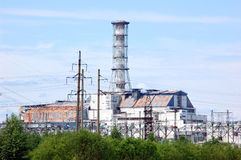 Chernobyl atomic power station Royalty Free Stock Photos