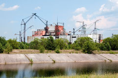 Chernobyl atomic power station. Chernobyl atomic nuclear power station in Ukraine Royalty Free Stock Images
