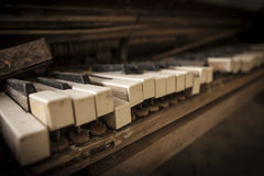 Chernobyl - close-up of an old piano Stock Images