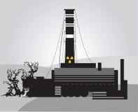 Chernobyl disaster. Black and white Chernobyl disaster Royalty Free Stock Photos