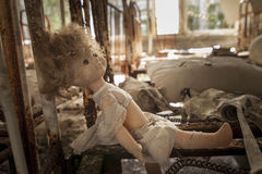 Chernobyl - Doll on rusty bed base Stock Images