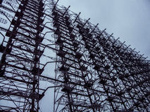 Chernobyl-2 (Duga). Duga-3 (NATO reporting name Steel Yard) was a Soviet over-the-horizon (OTH) radar system. Also known as Russian Woodpecker. Duga-3 lies Stock Image