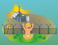 Chernobyl dzieci tragadia wiek ilustracja wektor