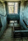 Old abandoned house in the ghost town of Pripyat, Ukraine. Consequences of a nuclear explosion at the Chernobyl nuclear power plan. Chernobyl Exclusion Zone royalty free stock photo