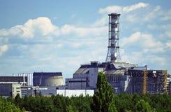 chernobyl kärn- växtström Arkivbild