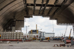 Chernobyl new safe confinement. Royalty Free Stock Photos