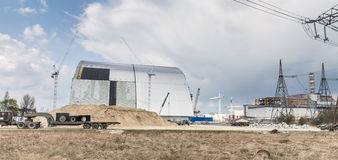 Chernobyl new safe confinement. Royalty Free Stock Image