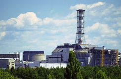 Chernobyl Nuclear Power Plant. On the river Pripyat in Chornobyl (Chernobyl), Ukraine Stock Photography