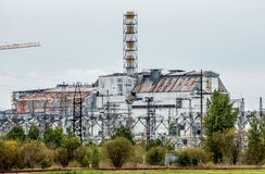 Chernobyl Nuclear Power Plant sarcophagus royalty free stock images