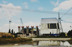 Chernobyl Nuclear Power Plant sarcophagus. Sarcophagus in Chernobyl Zone. This is Chernobyl Nuclear Power Plant, where nuclear disaster was Royalty Free Stock Images