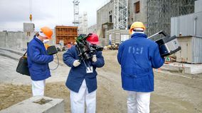 Chernobyl nuclear power station/ Filming Royalty Free Stock Photos