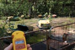 Chernobyl porzucał fairground Fotografia Stock