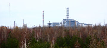 Chernobyl power plant Royalty Free Stock Photo