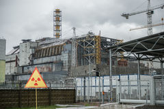 Chernobyl power station, 4-th block Royalty Free Stock Images