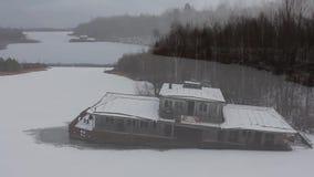 chernobyl Pripyat bertrand Flod copter Vinter 2014 stock video