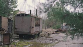 Chernobyl, Pripyat, Ukraine banque de vidéos