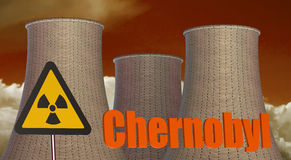 Chernobyl Radiation area concept. Isolated on white background Stock Photos