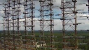 Chernobyl-2 - sistema transhorizonte soviético del radar almacen de metraje de vídeo