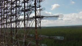 Chernobyl-2 - Soviet over-the-horizon radar system stock video footage
