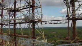 Chernobyl-2 - Soviet over-the-horizon radar system stock video