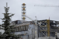 Chernobyl, UCRÂNIA - 14 de dezembro de 2015: Central nuclear de Chernobyl Fotografia de Stock Royalty Free