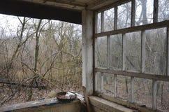 Chernobyl, UCRÂNIA - 14 de dezembro de 2015: Central nuclear de Chernobyl Foto de Stock Royalty Free