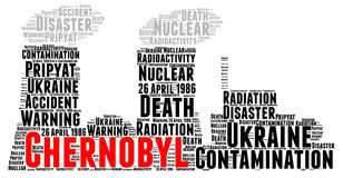 Chernobyl word cloud concept. Illustration Royalty Free Stock Images