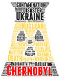 Chernobyl word cloud concept. Illustration Royalty Free Stock Photo