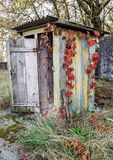 Chernobyl zone. Privy in Chernobyl Nuclear Power Plant Zone of Alienation, Ukraine Royalty Free Stock Photography