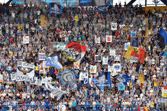 Chernomorets fans on the stand Royalty Free Stock Photo