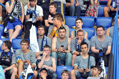 Chernomorets fans in vests Stock Photo