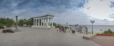 Chernomorsk sity near Odessa, Ukraine Royalty Free Stock Images