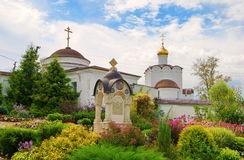 Chernoostrovsky convent. Of Saint Nicholas in the ancient Russian town of Maloyaroslavets stock images