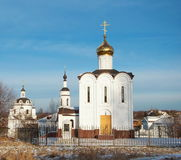 Chernoostrovsky monastery in Maloyaroslavets. Monastery of St. Nicholas of Myra in the ancient Russian city of Maloyaroslavets Royalty Free Stock Images