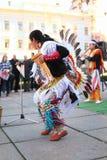 CHERNOVTSY, UCRAINA, il 22 ottobre 2010: Peruviano Fotografie Stock Libere da Diritti
