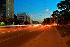 Chernyahovskogostraat in Kaliningrad van de binnenstad Stock Afbeelding