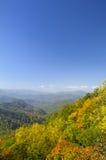 Cherohala Skyway ao fim de outubro Foto de Stock Royalty Free