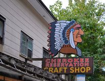 Cherokee Craft Shop Stock Image