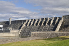 Cherokee Dam in Jefferson County, Tennessee, USA. Cherokee Dam in Jefferson County Tennessee USA.  Clean hydroelectric power provides `green` renewable energy Royalty Free Stock Image
